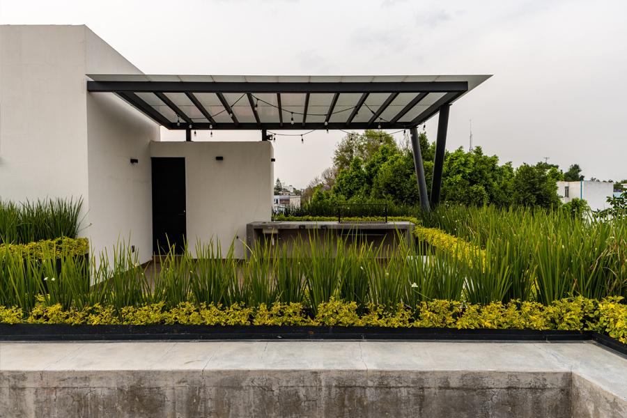 B618 roof garden desde el interior