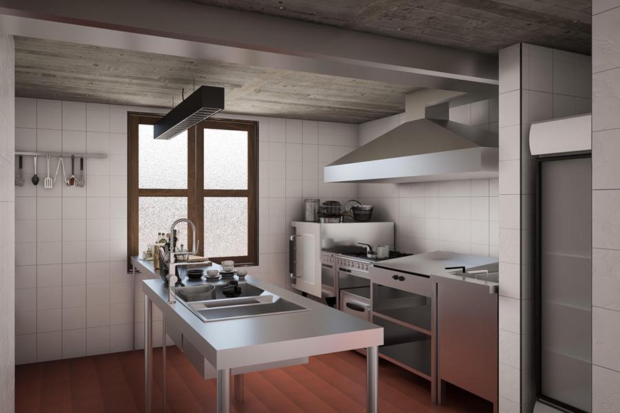 Vista general de tactic kitchen desde dentro