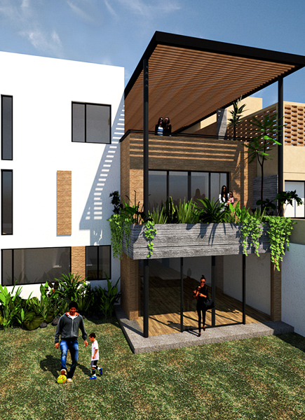 05 casa alpes fachada jardin